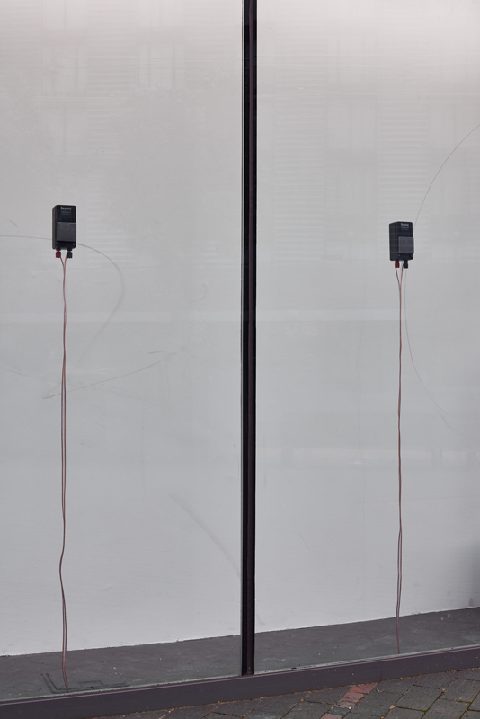 Nicole Bachmann, Full stop slightly high, 2020 Installation view with audio piece