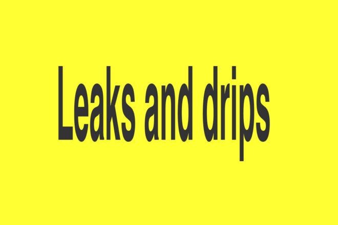 Nicole Bachmann, Leaks and drips, 2019