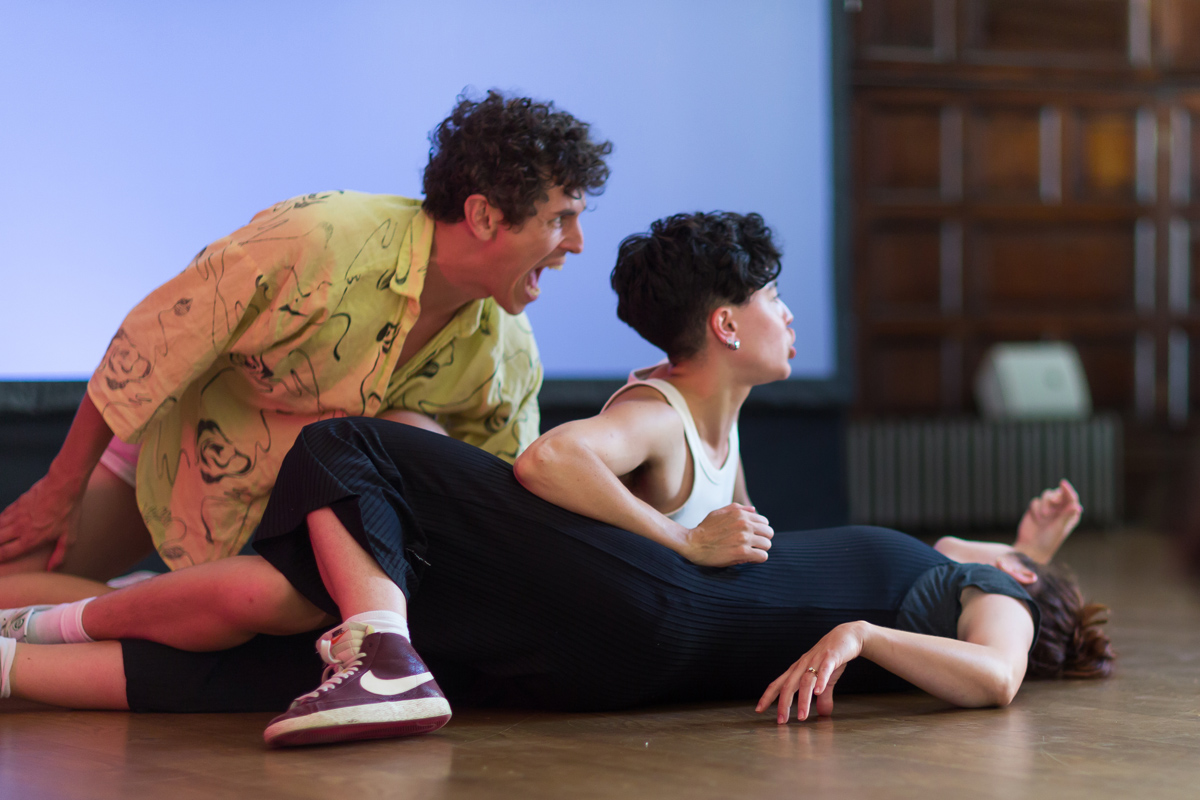 Nicole Bachmann, along the rims, 2020, performance at Toynbee Hall as part of Nocturnal Creatures 2021. Courtesy Whitechapel Gallery. Photo- Benedict Johnson